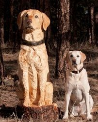 Realistic Pet Portraits - Nature Of Things Chainsaw Art                                                                                                                                                     More