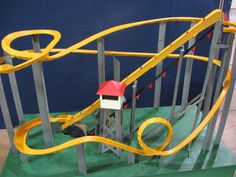 Marble run inspiration: Motorized Marble Roller Coaster