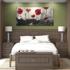$87 - Ready2hangart Alexis Bueno 'Painted Petals II' Canvas Wall Art - Overstock™ Shopping - Top Rated Ready2hangart Canvas
