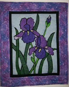 Applique Quilt Patterns Iris By Art Of The Quilt