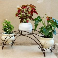 ijzeren planten standaard metaal // plant stand iron // Jardín europea hierro blanco puesto de flores