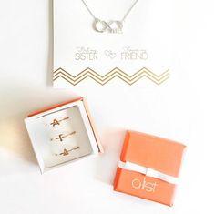 AGD Sorority Jewelry // AGD Infinity necklace & stack rings // A-List Greek - custom sorority jewelry www.alistgreek.com