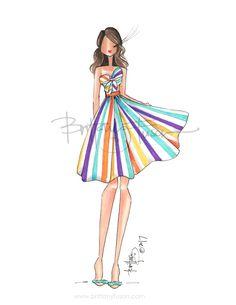 quenalbertini: Sassy by Brittany Fuson Fashion Design Drawings, Fashion Sketches, Ballet Fashion, Fashion Art, Fashion Painting, Festival Dress, Festival Outfits, Fashion Illustration Dresses, Fashion Illustrations
