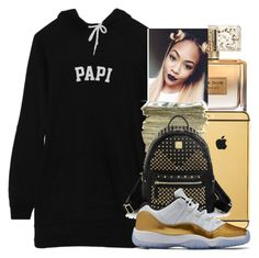 """""""im back"""" by kaja-bear ❤ liked on Polyvore featuring Givenchy, Goldgenie, SEN and MCM"""
