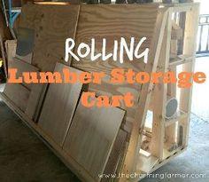 rolling lumber storage rack, storage ideas