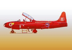 My drawing of the Red Knight T-bird in Two RCAF pilots flew over 100 air shows that year. Military Jets, Military Aircraft, Red Knight, Mish Mash, Air Show, Silver Stars, Pilots, Designs To Draw, My Drawings