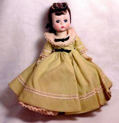 "Vintage 1955 MADAME ALEXANDER KINS 8"" Doll ""JO"" of LITTLE WOMEN #DollswithClothingAccessories Alex Little, Madame Alexander Dolls, Vintage Dolls, Doll Clothes, Disney Princess, Miniature, Antique, Sewing, Toys"