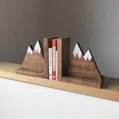 Mountain Book Ends by Hachi and Tegs