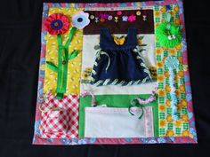 Fidgety Garden Girl  Quilt Tactile  Bright & by EndearingDignite, $40.00