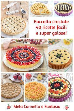 crostate Nutella, Chocolates, Plum Cake, English Food, Biscotti, Galette, Mini Desserts, Antipasto, Food Illustrations