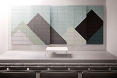 ACOUSTIC WOOD WOOL TILES BAUX ACOUSTIC TILES  TRIANGLE | BAUX