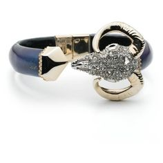 Alexis Bittar Horned Ram Break Hinge Bracelet ($193) ❤ liked on Polyvore featuring jewelry, bracelets, blue velvet, alexis bittar bangle, velvet jewelry, bangle bracelet, horn jewelry and alexis bittar jewelry