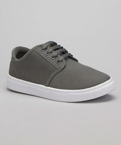 Look at this Lifted Soles Gray & White Low Canvas Sneaker on #zulily today!