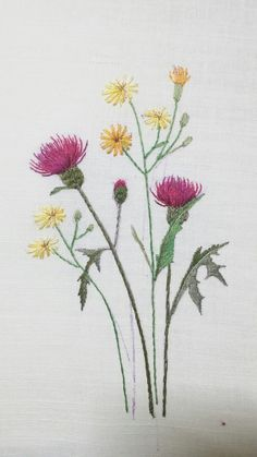 Summer Spray - Blackberry Lane Brazilian Embroidery EdMar thread packet only - Embroidery Design Guide Embroidery Flowers Pattern, Paper Embroidery, Japanese Embroidery, Hand Embroidery Stitches, Silk Ribbon Embroidery, Crewel Embroidery, Hand Embroidery Designs, Embroidered Flowers, Embroidery Supplies