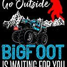 Go Outside Bigfoot Is Waiting For You Bigfoot, Big Trucks, Go Outside, Cool T Shirts, Birthday Gifts, Monster Trucks, Waiting, Hoodies, Birthday Presents