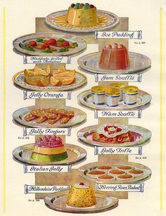 1920s Uk Food Magazine Plate Drawing