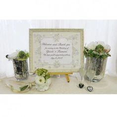 """Wedding Welcome board """"White Jewel"""" By Emby ウェルカムボード"""