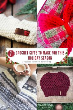 7 Crochet Gifts To Give For The Holidays - Free Crochet Patterns - Purchased Crochet Patterns - (taylor-lynn) Crochet Gifts, Free Crochet, Knit Crochet, Different Crochet Stitches, Crochet Patterns, Crochet Tutorials, Crocheting, Handmade Gifts, Holidays