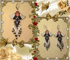 Black Angel Beaded earrings by Bead4Fun on Etsy, $30.00