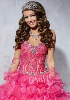 2014 Tiffany Fiesta 56253 Ruffled Skirt Dress
