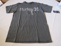 Hurley Warp and & Only CNDR gray Men's T shirt tee L lg mts0010420 Classic Fit