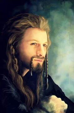 Fili by Alba Palacio- such an amazing painting! I thought it was an actual picture at first! Hobbit Art, O Hobbit, The Middle, Middle Earth, Fili Et Kili, Dean O'gorman, The Hobbit Movies, Into The West, Jackson