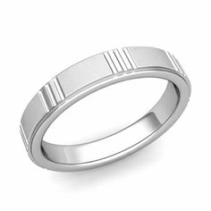 Geometric Wedding Band in Gold Satin Matte Finish Ring, Simple and modern, this satin finish wedding ring with geometric details set in a gold comfort fit wedding band is also perfect as an anniversary ring for women and men. Unique Mens Rings, Rings For Men, Beautiful Wedding Rings, Geometric Wedding, Wedding Band Sets, Anniversary Rings, Or Rose, Band Rings, Engagement Rings