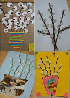 New Year's Crafts, Summer Crafts, Book Crafts, Diy And Crafts, Kindergarten Art, Preschool Art, Craft Activities For Kids, Art And Craft Flowers, Flower Crafts