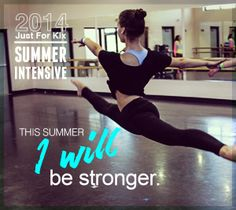 What will you accomplish this summer?   Register now for the 2014 Just For Kix Intensive and make your goals a reality.  http://www.justforkix.com/intensive