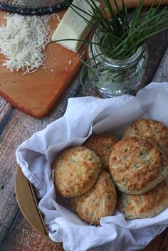 Greek Yogurt Asiago & Chive Biscuits via abeautifulbite