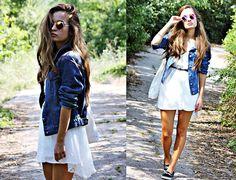 White Dress x Denim