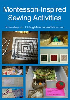 Roundup of Montessori-inspired sewing activities for preschoolers and elementary-age children