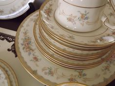 Mikasa China dinnerware Melinda Pattern # L9803. Round serving bowl | Mikasa Dinnerware and Fine china patterns : mikasa dinnerware patterns - Pezcame.Com
