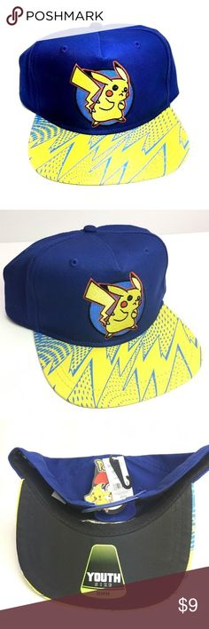 NEW Youth Size Pokemon Hat Pikachu Adjustable Hat In good condition.  If you have any questions feel free to contact us.  Shipping  Items ships 1-3 days after the purchase.  PLEASE NOTE: on occasion (at no additional charge) we will upgrade your shipping from economy USPS Retail Ground to USPS Priority Mail or to FedEx Ground    - or - from FedEx Ground to USPS Priority Mail.  Please let us know when you order if you need to keep the shipping the same as the stated service Accessories Hats