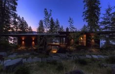 Architecture: Modern Lake Cabin Exterior Of The Coeur D'Alene Lake Cabin With Rain Screen And Steel Roof Also Wooden Wall Panels Design Ideas: Great Lake Cabin Design With Modern Interiors, Coeur D'Alene Cabin