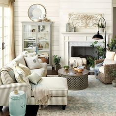 French country master living room (1)