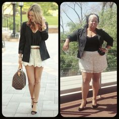plus size crepe ruched sleeve blazer and short outfit, | plus size