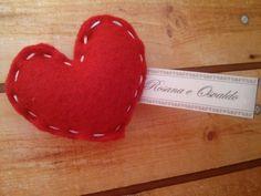 Lembrancinha Casamento Coração em feltro | Ateliê Dona Joana | Elo7
