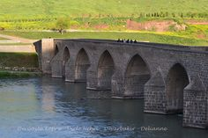 Diyarbakır, Old City, Historic City, On Gözlü Köprü, Historic Bridge, Dicle Nehri, Dicle River by delianne