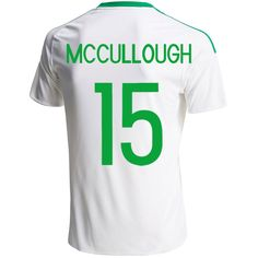Luke McCullough 15 2016 UEFA Euro Northern Ireland Away Soccer Jersey