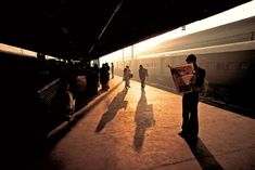 Steve McCurry -Train Station in Old Delhi 1993