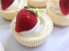 Cheesecake jako mini dezert - Víkendové pečení Cheesecake Cupcakes, Lemon Cheesecake, Cheesecake Recipes, Sweet Desserts, No Bake Desserts, Sweet Recipes, Czech Recipes, Mini Cheesecakes, Mini Cakes