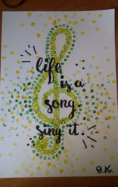#klucz #wiolinowy #plakat #motywacyjny
