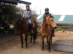 With my riding buddy Kathy and her horse Bandit.