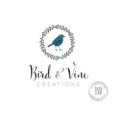 Logo Design-Small Business Logo-Bird par JupiterStreetDesigns