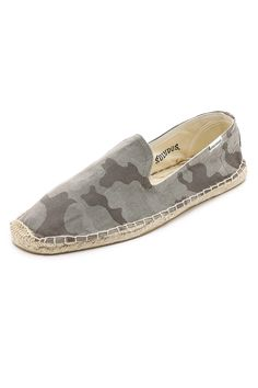 Camo print espadrille ($55) by Soludos, soludos.com The espadrille should be your summer go-to for all things not involving work. If it seems a tad lightweight to you at first, try a pair in a bold camouflage print for an added hint of masculinity.   - Esquire.com