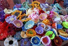 Hippystitch: June 2018 Knitted Flowers, Community Art, Flower Making, Flower Wall, Crochet Projects, June, Bloom, York, Stitch