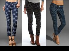 DIY Polka Dot Jeans DIY Clothes DIY Refashion