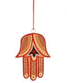Hamsa Hand Hanging Decoration, Red