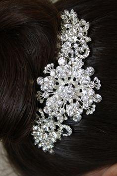 Bridal Hair Comb Wedding Hair Comb- Wedding Hair Accessories-Rhinestone Bridal Comb-Crystal Wedding Comb-Bridal Headpiece on Etsy, $49.95